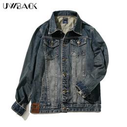 Wholesale Men S Jacket 7xl - Wholesale- Uwback 2017 New Denim Jacket Men Tactical Army Windbreaker Jeans Jackets Men Plus Szie 7XL Chest 138cm Bomber Jacket Men CAA185