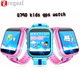 Wholesale Watch Phone Touch Screen Wifi - Wholesale- Q750 Kid Smart Watch GPS Wifi LBS Monitor Locator Watch Phone 1.54 Inch Touch Screen SOS Safe Anti-Lost Location Device Tracker