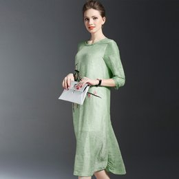 Wholesale Collar S For Adults - Casual Dresses for Women Vintage Dress In The Elegant Temperament Easy Retro Fashion Embroidered Collar Long Dress