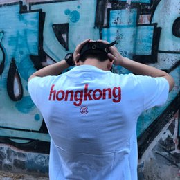 Wholesale Hongkong Shipping - Hot Sale Alife HongKong T-Shirt Crew Neck Short Sleeve Mens Summer Cotton Tees White Skateboards Sport Shirt Women Tee Free Shipping