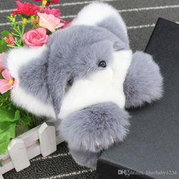 Wholesale Buy Women Bags Wholesale - Buy Natural Rex Rabbit Fur Keychain Fashion Bag Key chains Real Rabbit Fur Pendant Car Decorations Key rings Monster Trinket Fox
