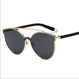 Wholesale Golden Beam - Sunglasses for women Luxury Sunglasses sun glasses for men Brand mirror Fashion accessories UV400 TAC dazzling color Coated Double beam