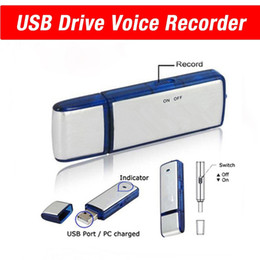 Wholesale Usb Flash Drive Sounds - 8GB USB Flash Drive Voice Recorders Spy Pen Recorder Sound Voice Recording USB memory Stick Dictaphone Up to 8hr recording