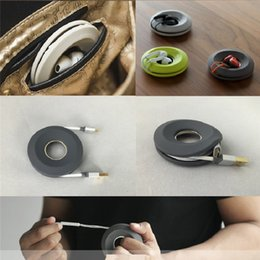 Wholesale Headphone Cute - Creative Cute Donut Magnet Silica Gel Headphones Earphone Holder Cable Winder Cord Organizer Box Cord Wire Storage Case