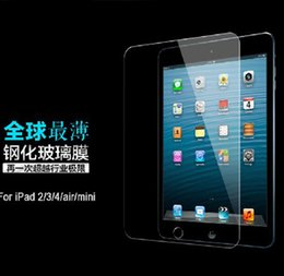 Wholesale Glass For Ipad4 - Wholesale-For iPad 2 3 4 Premium Tempered Glass Screen Protector Toughened 0.3mm Protective Film for iPad4 with Retail Package 1pcs lot