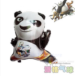 Wholesale Panda Baby Toys - 10pcs lot Kung Fu Panda helium Balloons cartoon animals ballon baby birthday party decor globos Animal shape toys