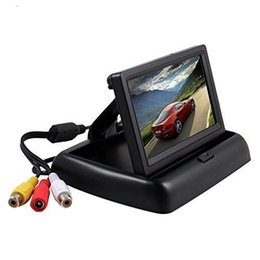 Wholesale Car Tft Lcd Dvd Player - Scotabc Foldable 4.3 Inch Color LCD TFT Rearview Monitor Screen for Car