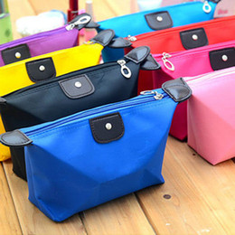 Wholesale Red Toiletries Bag - 12 Colors High Quality Lady MakeUp Pouch Cosmetic Make Up Bag Clutch Hanging Toiletries Travel Kit Jewelry Organizer Casual Purse