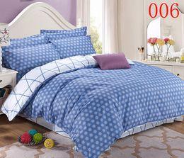Dots Bedroom Twin Full Queen Cotton 4pcs Bedding Set Bedclothes Sets Bed Linens Flat Sheet Quilt
