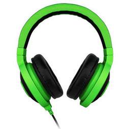 Wholesale Popular Computers - Best Quality 3.5mm Razer Kraken Pro Gaming Headset with Wire control headphones in BOX for IOS Android system most popular without package