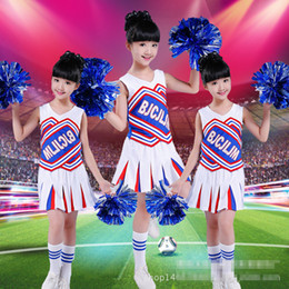 Wholesale Costumes Class - Children Cheerleaders Girl School Team Uniforms Kid Graduation Kids Performance Costumes Set Girls Class Suit Boy School Suits