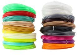 Wholesale Abs Pla Plastic - 20 Colors 3D Filament ABS  PLA 1.75mm Printer Filament Materials (10M color ,total 200M) For 3D Printing Pen 3D Printer