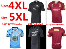 Wholesale Extra New - 2017 2018 New Zealand All Blacks MAORI Rugby Jerseys 17 18 All Blacks Territory rugby shirts men euro Extra large size S-4XL-5XL