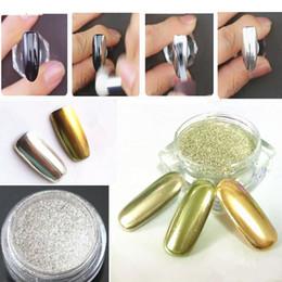 1 g / scatola oro nastro specchio glitter polvere per chiodi shinning polvere nail art fai da te cromo pigmento glitters 3d nail art decorazione da decorazione oro per le unghie fornitori