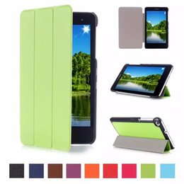 Wholesale Huawei Tablet Glass - Wholesale-Tempered Glass Screen Protector Film + Flip Case Cover for Huawei Mediapad T1 7.0 T1-701u T1-701 Tablet