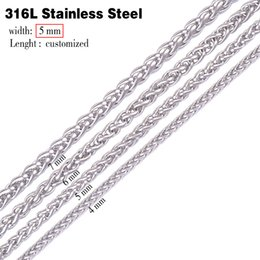 Wholesale Swag Necklaces - Wholesale- 5mm 316L stainless steel men necklace , long punk statement swag stainless steel necklace chain men ,vintage men jewelry