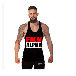 Wholesale Sling Shirts - Big size sling vest, fitness clothing, gym, sports training, deep roots, cotton, vest, men, exercise, T-Shirts