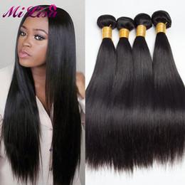 Wholesale Thick Brazilian Straight Hair - Cheap Brazilian Virgin hair straight 4 bundles deal Brazilian Hair Weave Bundles human hair bundles thick no split ends 100g per bundle