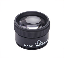 Wholesale Jeweler Magnify Glasses - Black 30 X 36mm Jeweler Optics Loupes Magnifier Magnifying Tool Glass Lens Loop Microscope Watch Repair Tool