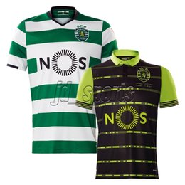 Wholesale Soccer Jersey Portugal - 2017-18 Sporting Clube Portugal Lisbon Futbol Camisa Lisboa Scp Dost Martins Soccer Jersey Football Camisetas Shirt Kit Maillot Liga Nos