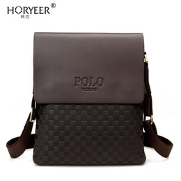 Wholesale Cross Body Cell Phone Bags - Wholesale- HORYEER Famous Brand polo Bag Men Messenger Bags Crossbody Small sacoche homme Satchel Man Satchels bolsos Travel Shoulder Bags