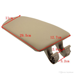 Wholesale Center Console Box - Beige PU Leather Car Interior Center Console Box Armrest Lid Cover Pad For Audi A4 B7 Quattro Wagon 2004-2007 Replacement 8E0864245P38M #P08