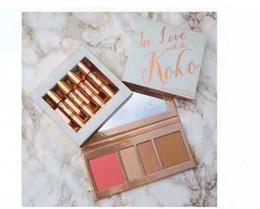 Wholesale Love Doll Sizes - KOKO Kollection 2 Koko Eyeshadow Blush Palette Lipgloss 4 Pcs Kit In Love With Doll Sugar Plum Bunny Baby Girl Kylie Cosemtic Koko Kollecti