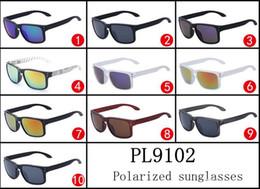 Wholesale Designer Holbrook - Hot High quality Polarized sunglasses designer sunglasses Sports Sunglasses PL9102 HOLBROOK 10 color with logo free shipping