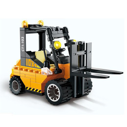 Wholesale Toy Truck Assembly - oys gifts gadgets Super Cool!! 115pcs set Forklift Trucks Assembly Building Blocks Kits Children Educational Puzzle Toys Kids Birthday Gi...