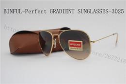 Wholesale Brown Coats For Women - Fast shipping classic retro metallic gold frame sunglasses, progressive three lenses for sunglasses, three color coated femaleg