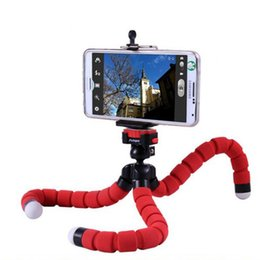 Wholesale Octopus Iphone - Car Phone Holder Flexible Octopus Tripod Bracket Selfie Stand Mount Monopod Styling Accessories For Mobile smartPhone iphone 7