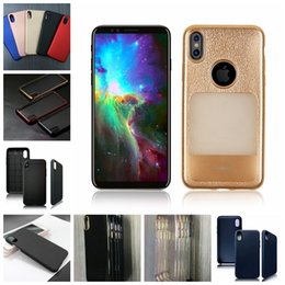 Wholesale Iphone Piano - Luxury Soft Plating TPU Case for iPhone X 10 Metal Style 3D Leather Style Carbon Fiber Piano Black Lightweight Slim PC Back Cover Shell