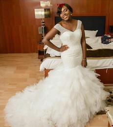 Wholesale Sparkling Red Wedding Dresses - 2017 Luxury Dazzling Bling Sparkle Black Girl Wedding Dress Wedding Dresses Lace Up Beads Wedding Dress Bridal Gowns