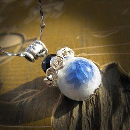 Wholesale Chinese Sale Beauty - Women Pendant Necklace Fashion Chinese Culture White Blue Jewelry Beauty Cute Ceramics DIY Hot Sale Lantern Personality Necklaces