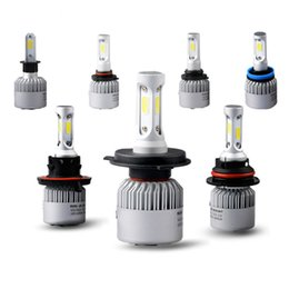 Wholesale Hi Beam - Car led h7 h4 hb3 9005 9006 h3 h11 h13 9004 9007 COB Auto Headlight Kits 6500 K 8000LM Hi   lo Beam Car LED bulb