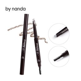 Wholesale Permanent Eyebrow Pencils - Wholesale- by nanda 1Pc New Automatic Waterproof Eyebrow Pencil Enhancer Makeup Eyeshadow Pencil Pen With Brush Permanent Eye Liner