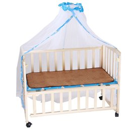 Wholesale Landing Nets - Wholesale-Summer Baby Crib Netting Mosquito Bed Folding Nets Landing Palace Style Mesh Dome Curtain Net for Toddler Crib Cot YY0496