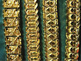 2019 armband solide gelb Großhandel - Brand new 40g MEN 24K GELB GOLD GEP SOLID FILL GP ARMBAND Mode Männer Gold Armband 15mm * 8