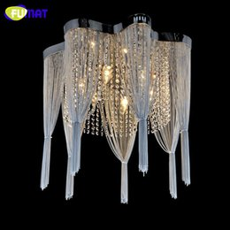 Wholesale Crystal Suspension Light - Chain Chandelier Empire Silver Hanging Suspension Lustres Lamp Crystal Light lamparas de techo home Lighting