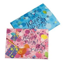 Al por mayor-10 PCS una tarjeta de invitación de cumpleaños de tarjeta de invitación 21.8CM * 10.6CM desde fabricantes