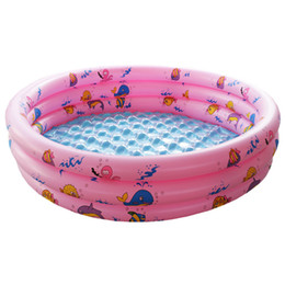 Wholesale Inflatable Child Bathtub - Wholesale- 2016 New Baby kids Circular Swimming Pool Summer Children Inflatable Bathtub Foldable Bath Pool Portable Shower Basin for Baby