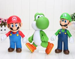 "Wholesale Super Mario Action Figures Collection - 3styles Super Mario Collection Figure Mario Yoshi Luigi PVC Action Figure Toy Doll 9""23cm good kids toy gify"