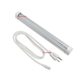 Discount led side smd - 1.5M US plug cable + V-Shaped 2ft 3ft 4ft 5ft 6ft 8ft Led light bulbs T8 Integrated Led Tubes Double Sides cooler Lights