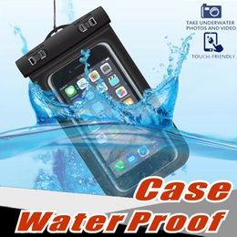 Wholesale Orange Smart Cell Phone - Universal For iphone 7 6 6s plus samsung S7 Waterproof Case bag Cell Phone Water proof Dry Bag for smart phone up to 5.8 inch diagonal