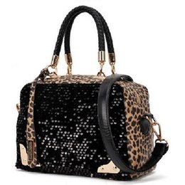 Wholesale Harajuku Bags Shoulder - Wholesale- 2016 New Women Leather Handbag women Shoulder Bag Vintage Leopard bags Women Messenger Bags bolsas harajuku ladies bag
