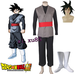 Wholesale Hot Pink Anime Costumes - HOT Anime COS Dragon Ball Super Son Goku Black Zamasu Dragonball Z Cosplay Costume Outfit Suit Custom Made Any Size Unisex