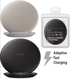 Wholesale Huawei Dock - For s8 wireless Qi fast Charger pad Convertible Micro USB quick charge stand Dock mini Qi fast charger pads forgalaxy s8 s8plus huawei