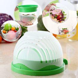 Wholesale Vegetable Fast - salad bowl save time fast cut fruit salad cut bowl bowl of vegetables and fruit divider kitchen artifact IC559