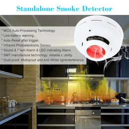 Wholesale Fire Alarms - Standalone Photoelectric Smoke Detector Fire Alarm Sensor Sound Flash Alarm Warning Smoke Test For Indoor Home Safety Security