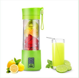 Wholesale Hot Cup Usb - Hot 400ml Portable Electric Fruit Juicer Bottle Vegetable Citrus Blender Juicer Cup with USB charger free shipping